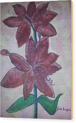 Floral Beauty Wood Print by Joetta Beauford