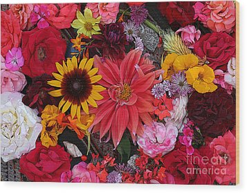 Floral Bounty 2 Wood Print by Jeanette French