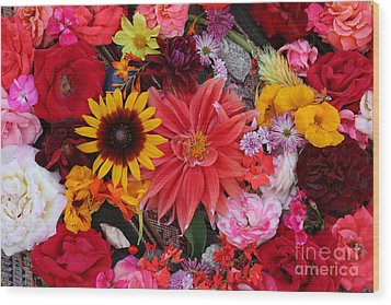 Wood Print featuring the photograph Floral Bounty by Jeanette French