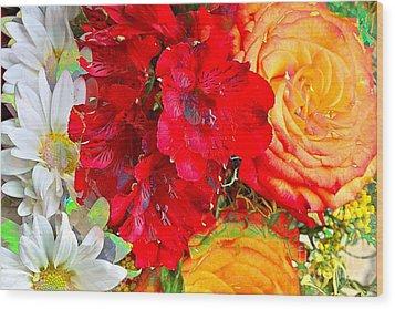 Floral Bouquet Wood Print