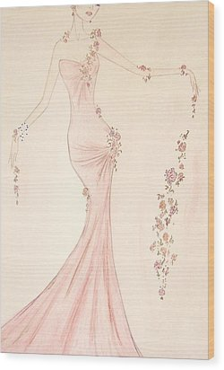 Floral Cascade  Wood Print by Christine Corretti