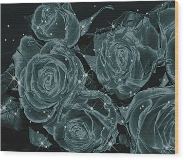 Floral Constellations Wood Print by Wendy J St Christopher