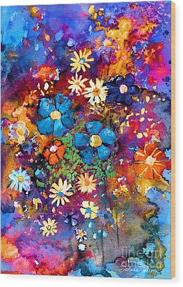 Floral Dance Fantasy Wood Print by Svetlana Novikova
