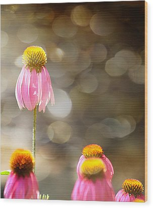 Floral Dance Wood Print by Margaret Hormann Bfa