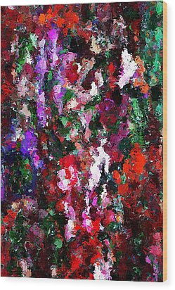Floral Expression 021015 Wood Print by David Lane