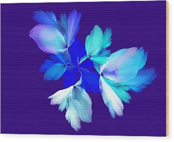 Wood Print featuring the digital art Floral Fantasy 012815 by David Lane