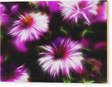 Wood Print featuring the photograph Floral Fireworks by Selke Boris