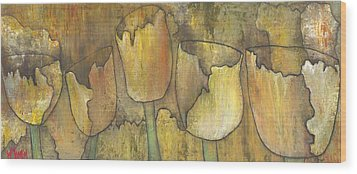 'floral Fruition' Wood Print