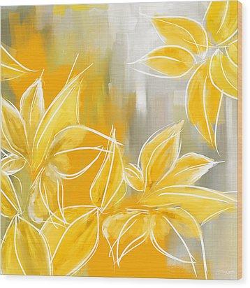 Floral Glow Wood Print
