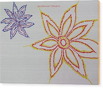 Floral Joy  Wood Print by Sonali Gangane