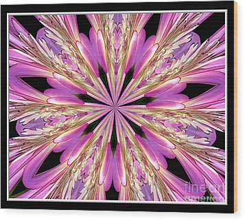 Wood Print featuring the photograph Floral Kaleidoscope  Waterlily by Rose Santuci-Sofranko
