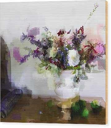 Wood Print featuring the photograph Floral Still Life II by Linde Townsend