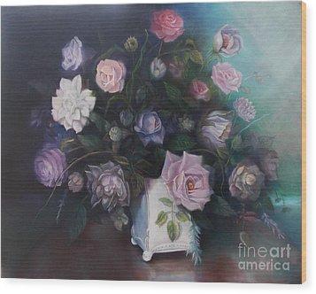 Floral Still Life Wood Print by Marlene Book