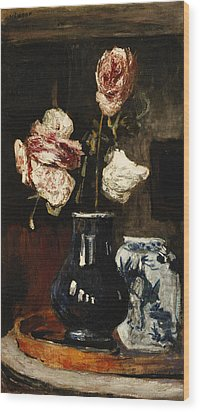 Floral Still Life Wood Print by Roderic O Conor