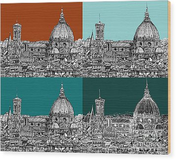 Florence Foursome 1 Wood Print by Adendorff Design