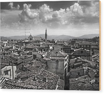 Florence Italy - 01 Wood Print by Gregory Dyer