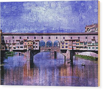 Florence Italy Wood Print by Kathy Churchman