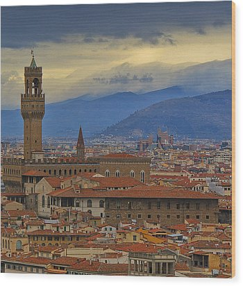 Florence Overlook Wood Print
