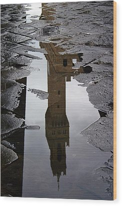 Wood Print featuring the photograph Florence Reflection by Henry Kowalski
