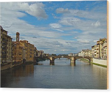 Wood Print featuring the photograph Florence Serenade by Walter Fahmy