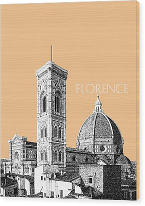 Florence Skyline Cathedral Of Santa Maria Del Fiore 2 - Wheat Wood Print by DB Artist