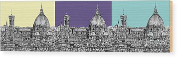 Florence's Duomo In Pastels Wood Print by Adendorff Design