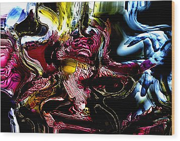 Wood Print featuring the digital art Flores' Darker More Uncomfortable Twin by Richard Thomas