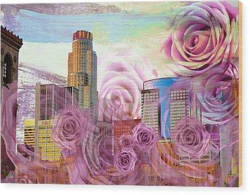 Las Flores De Los Angeles  Wood Print