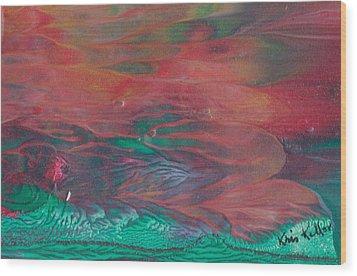 Florid Skies Wood Print by Kristine Kellor