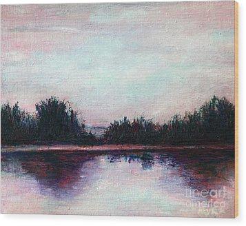 Florida Canal Wood Print