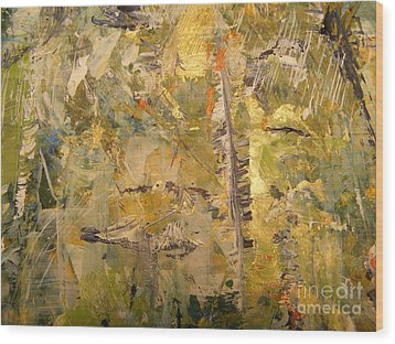Wood Print featuring the painting Florida Feather by Nancy Kane Chapman