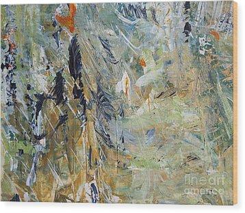 Wood Print featuring the painting Florida Flyaway by Nancy Kane Chapman