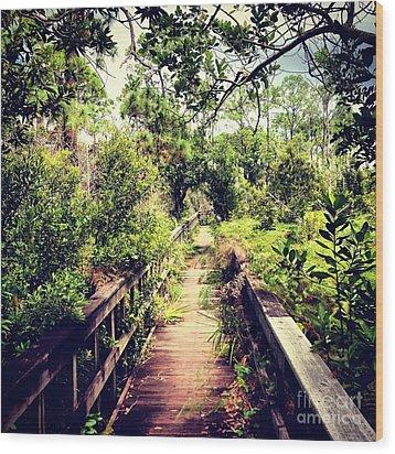 Florida Foliage 2 Wood Print