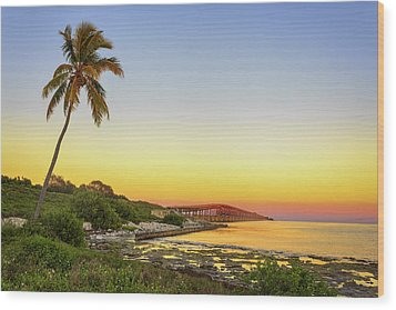 Florida Keys Sunset Wood Print by Swank Photography