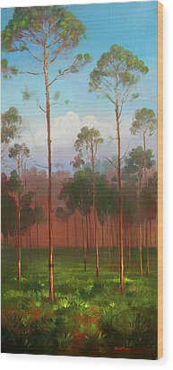 Florida Pines Wood Print by Keith Gunderson