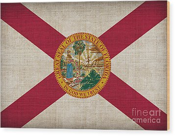 Florida State Flag Wood Print by Pixel Chimp