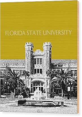 Florida State University - Gold Wood Print by DB Artist