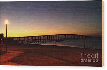 Florida Sunrise Wood Print by Janice Spivey