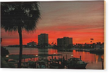 Wood Print featuring the photograph Florida Sunset by Hanny Heim