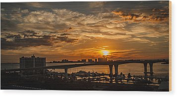 Wood Print featuring the photograph Florida Sunset by Jane Luxton