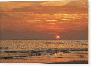 Florida Sunset Wood Print by Sandy Keeton