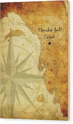 Florida's Gulf Coast Wood Print
