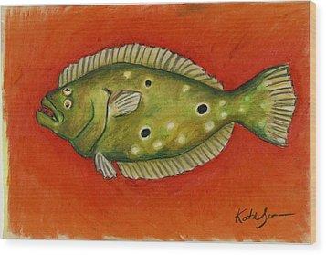 Flounder Wood Print