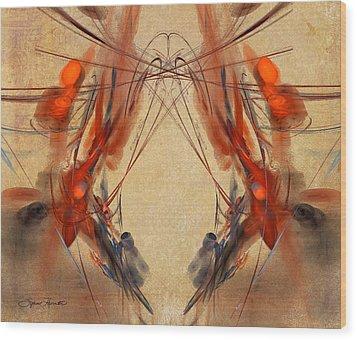 Flourishes Wood Print by Sylvia Thornton