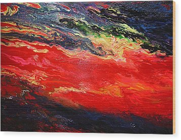 Wood Print featuring the painting Flow #1.abstract by Viktor Lazarev