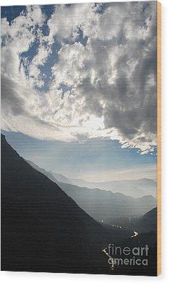 Flow Wood Print by Susan Hernandez