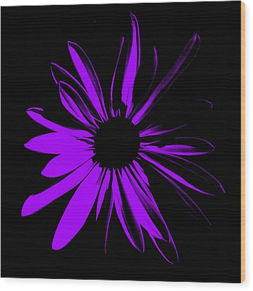 Wood Print featuring the digital art Flower 10 by Maggy Marsh