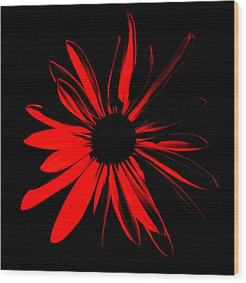 Wood Print featuring the digital art Flower 2 by Maggy Marsh
