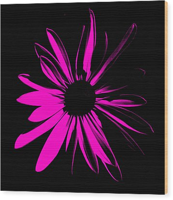 Wood Print featuring the digital art Flower 6 by Maggy Marsh