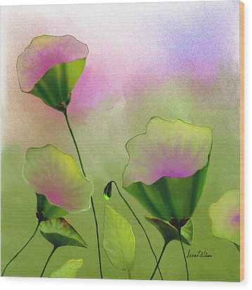 Flower Bowls Wood Print